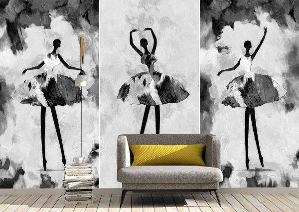 Abstract painted ballerinas Wall Mural Photo Wallpaper UV Print Decal Art Décor