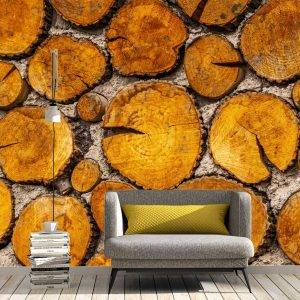Tree Trunk in the Wall Wall Mural Photo Wallpaper UV Print Decal Art Décor