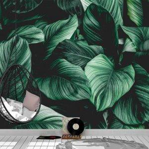 Abstract tropical leaf Wall Mural Photo Wallpaper