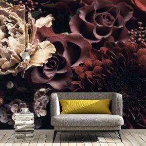 Beautiful Bouquet of Flowers Wall Mural Photo Wallpaper