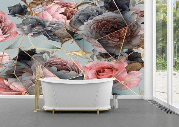 Seamless floral pattern Wall Mural Photo Wallpaper UV Print Decal Art Décor