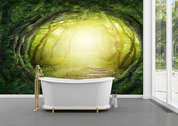 Magic Tunnel in the Forest Wall Mural Photo Wallpaper