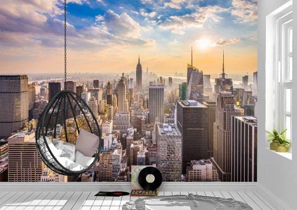 New York City Landscape Wall Mural Photo Wallpaper UV Print Decal Art Décor