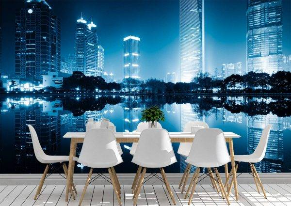 The Night View of China Wall Mural Photo Wallpaper UV Print Decal Art Décor