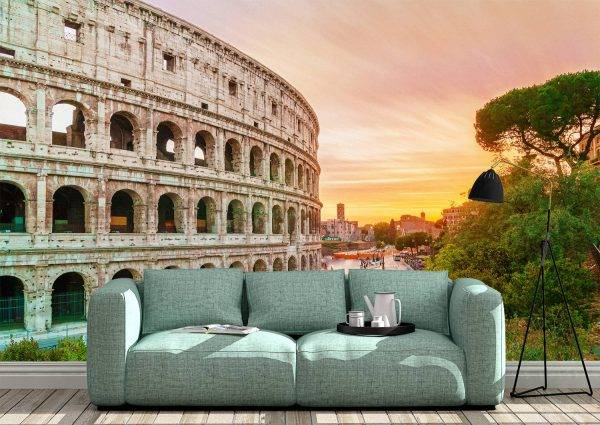 Colosseum at Sunset Time Wall Mural Photo Wallpaper UV Print Decal Art Décor
