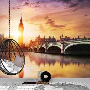 Big Ben & Westminster Bridge Wall Mural Photo Wallpaper UV Print Decal Art Décor