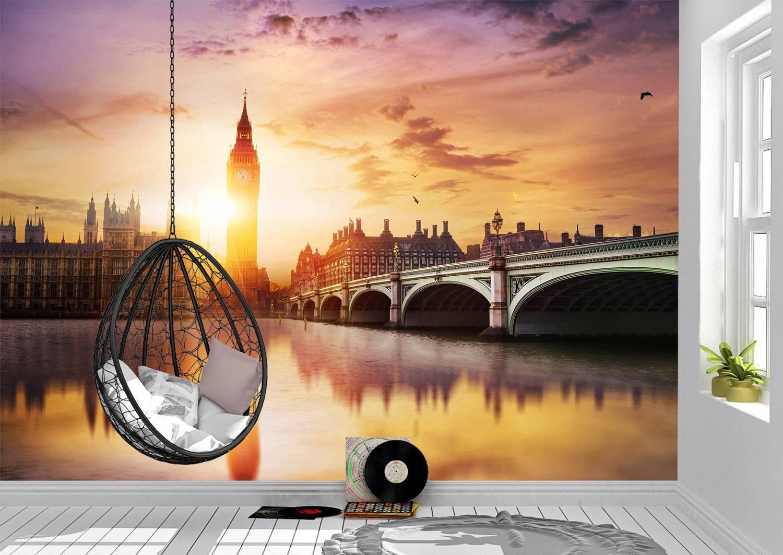 Big Ben & Westminster Bridge Wall Mural Photo Wallpaper UV Print Decal Art Décor