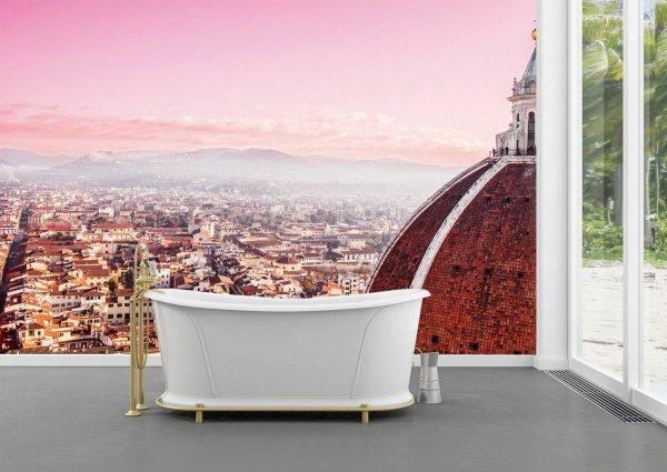 Florence Sunset City Skyline Wall Mural Wallpaper