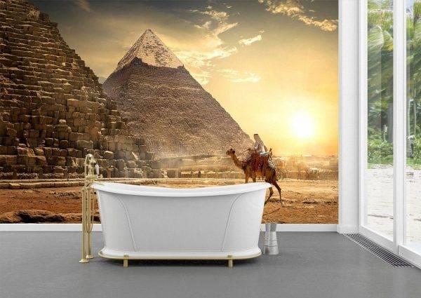 Pyramids & Egyptian Desert Wall Mural Photo Wallpaper UV Print Decal Art Décor