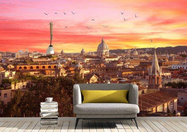 Cityscape with amazing sunset Wall Mural Photo Wallpaper UV Print Decal Art Décor