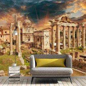 Ancient Ruins of Rome Wall Mural Photo Wallpaper