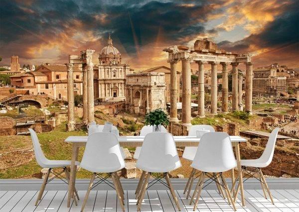 Ancient Ruins of Rome Wall Mural Photo Wallpaper