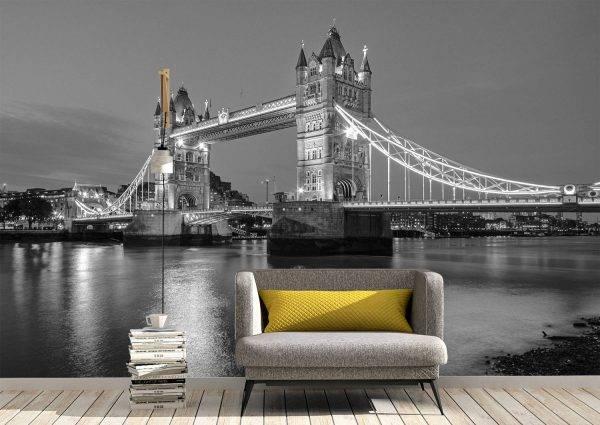 The Tower Bridge in London Wall Mural Photo Wallpaper UV Print Decal Art Décor