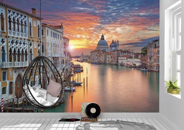 Grand Canal in Venice Wall Mural Photo Wallpaper UV Print Decal Art Décor
