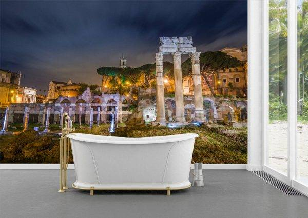 Rome Forum by Night Wall Mural Photo Wallpaper UV Print Decal Art Décor