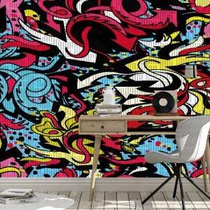 Collage Graffiti Street Wall Mural Photo Wallpaper UV Print Decal Art Décor