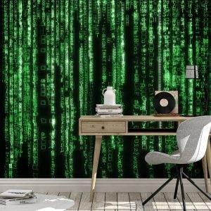 Matrix Iconic Green Code Wall Mural Photo Wallpaper UV Print Decal Art Décor