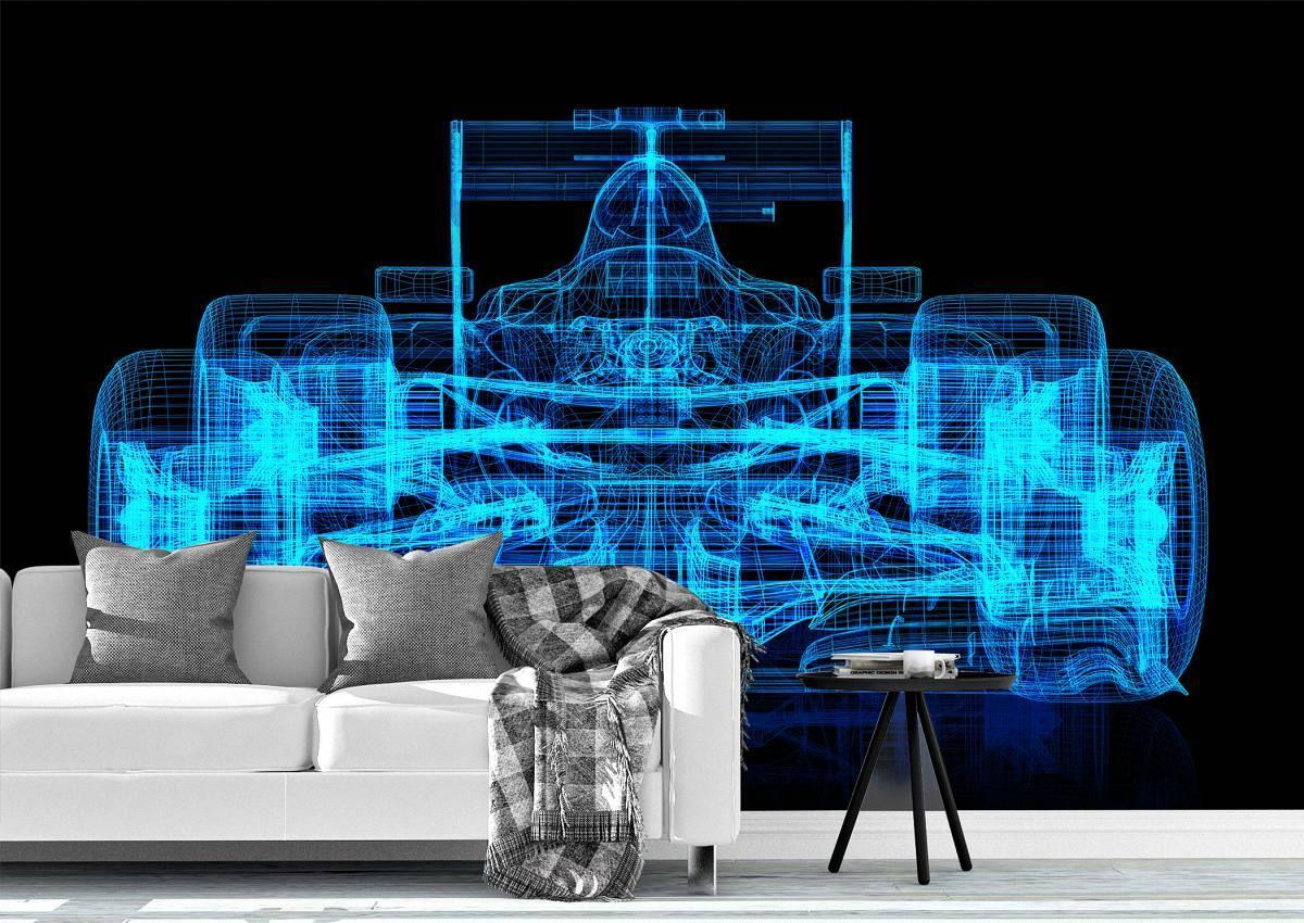 Sport Car Cyber Design Wall Mural Photo Wallpaper UV Print Decal Art Décor