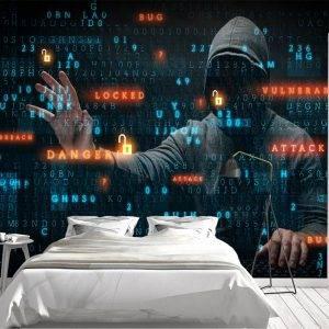 Cyber Attack Hacker a Wall Mural Photo Wallpaper UV Print Decal Art Décor
