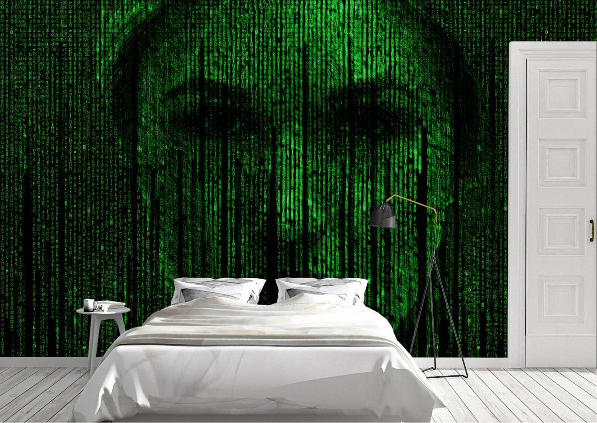 Matrix Trinity Cyber Code Wall Mural Photo Wallpaper UV Print Decal Art Décor