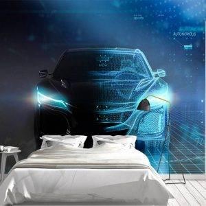 Comuter Design Sport CarWall Mural Photo Wallpaper UV Print Decal Art Décor