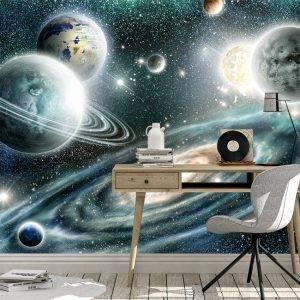Alien planets solar system Wall Mural Photo Wallpaper UV Print Decal Art Décor