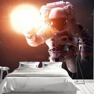 Astronaut & Glowing Sun NASA Wall Mural Photo Wallpaper UV Print Decal Art Décor