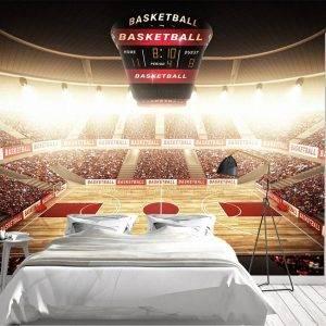 Basketball Area Sport Wall Mural Photo Wallpaper UV Print Decal Art Décor