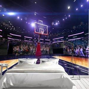Basketball Court Wide View Wall Mural Photo Wallpaper UV Print Decal Art Décor