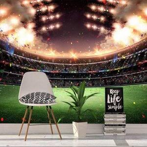 3D Sport Colourful Stadium Wall Mural Photo Wallpaper UV Print Decal Art Décor