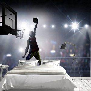 Basketball Player in Action Wall Mural Photo Wallpaper UV Print Decal Art Décor