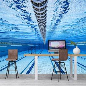 Swimming Pool Underwater View Wall Mural Photo Wallpaper UV Print Decal Art Décor