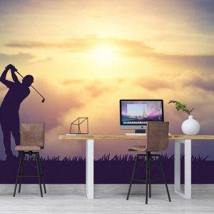 Golf course in the summer Wall Mural Photo Wallpaper UV Print Decal Art Décor