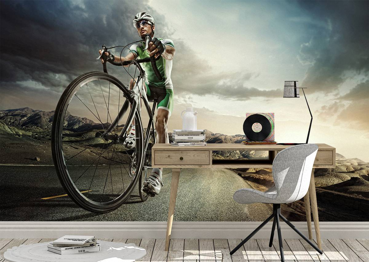 Road Cyclist Sport & Hobby Wall Mural Photo Wallpaper UV Print Decal Art Décor