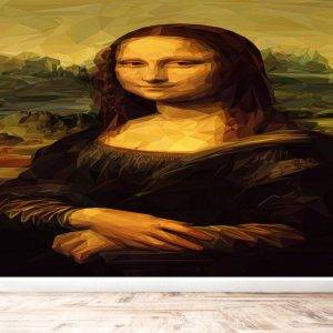Mona Lisa Illustration Wall Mural Photo Wallpaper UV Print Decal Art Décor