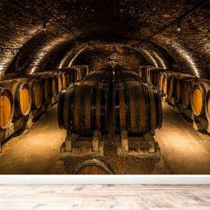 Old Cellar with Wine Wall Mural Photo Wallpaper UV Print Decal Art Décor