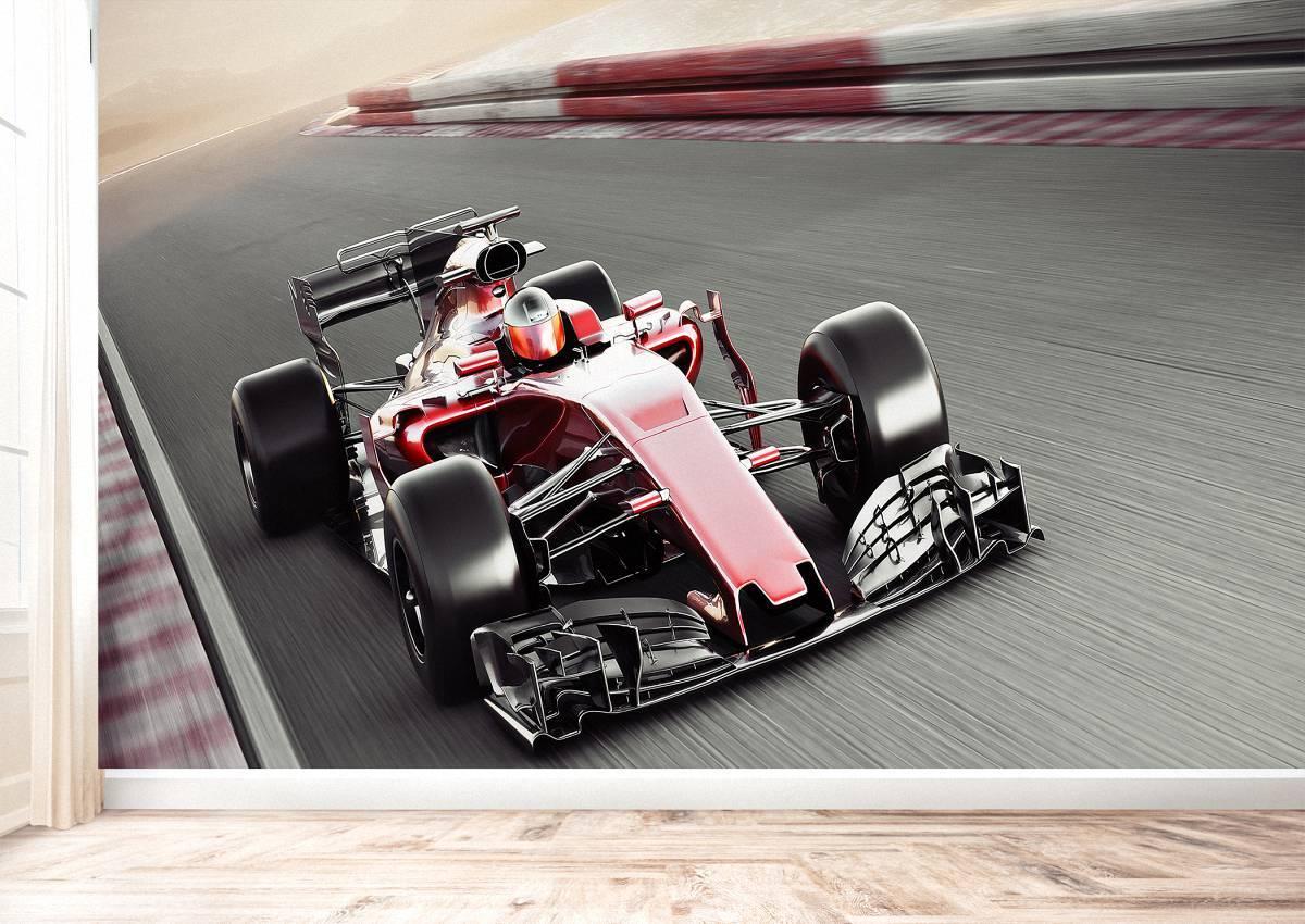 Bolid Formula 1 View Wall Mural Photo Wallpaper UV Print Decal Art Décor