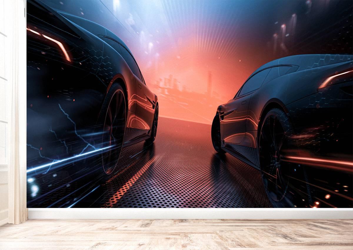 Future Cars Design Dark Theme Wall Mural Photo Wallpaper UV Print Decal Décor