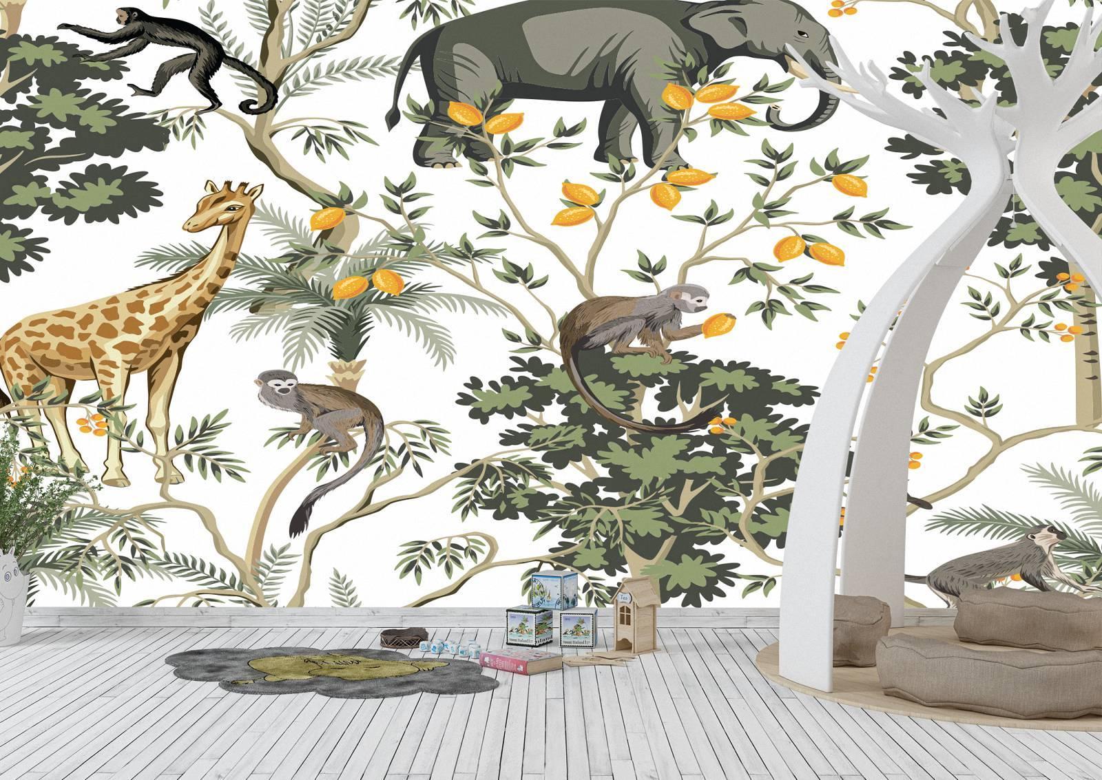 African Animals Background Wall Mural Photo Wallpaper UV Print Decal Art Décor