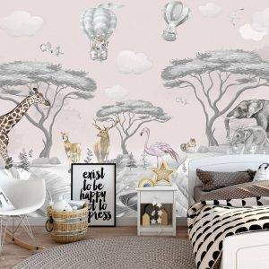 Animals from all over the World Wall Mural Wallpaper UV Print Decal Art Décor