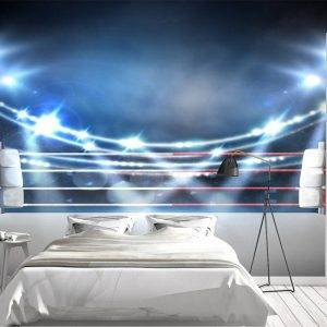Boxing Ring with Spotlights Wall Mural Photo Wallpaper UV Print Decal Art Décor