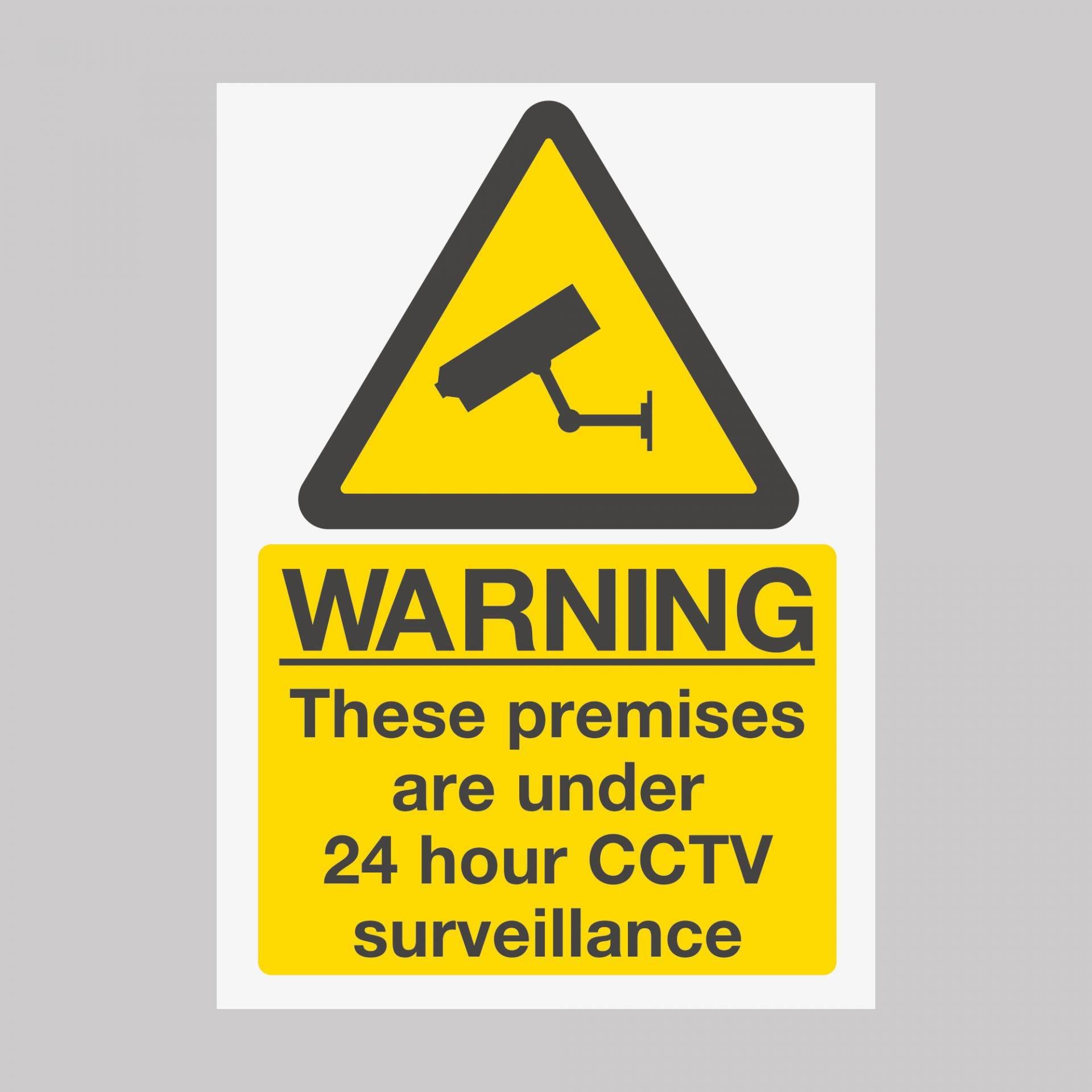 24 Hours CCTV Safety Sign Board Vinyl Sticker Busines Indoor & Outdoor UK Product