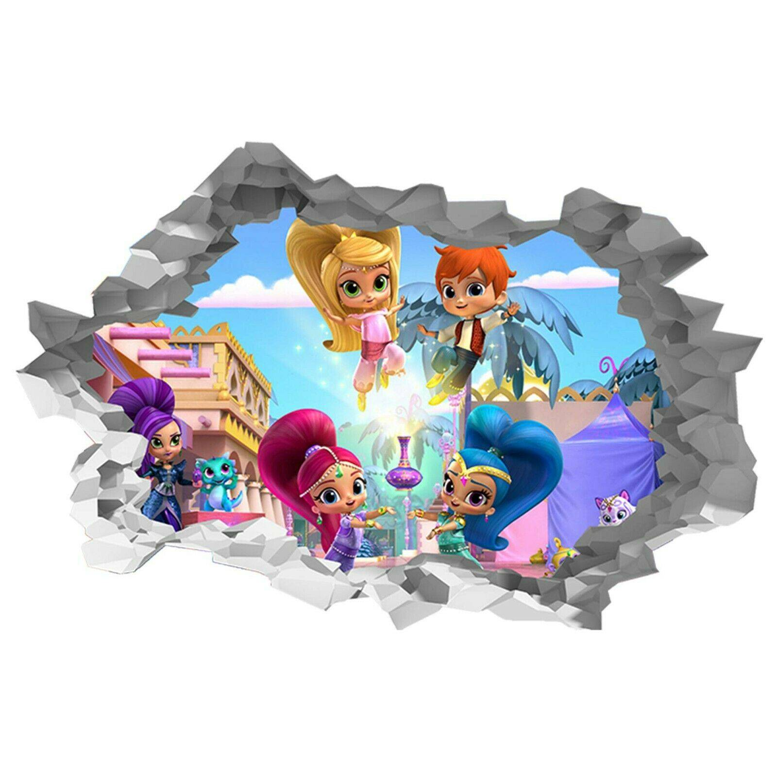 Shimmer and Shine Theme Poster Self Adhesive Wall Sticker Art Decal Mural