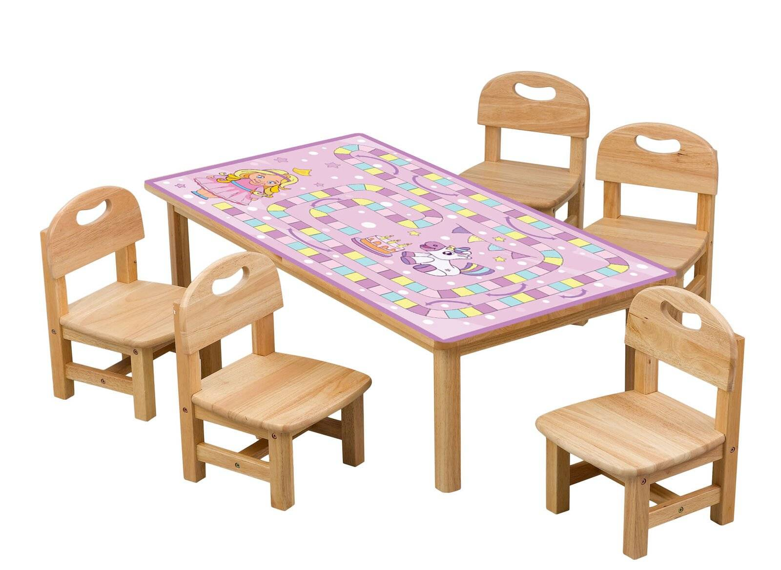 Pink Game Board For Kids Laminated Self Adhesive Vinyl Table Desk Art Décor Cover