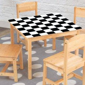 Chess Game Board Laminated Vinyl Cover Self-Adhesive for Desk and Tables